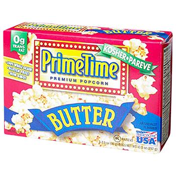 【FOOD de WINE】プライムタイム マイクロウィーブ ポップコーン バター 3P 297g / 鈴商(Prime Time Premium Popcorn) 0ml