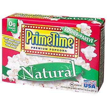 【FOOD de WINE】プライムタイム マイクロウィーブ ポップコーン ナチュラル 3P 297g / 鈴商(Prime Time Premium Popcorn) 0ml