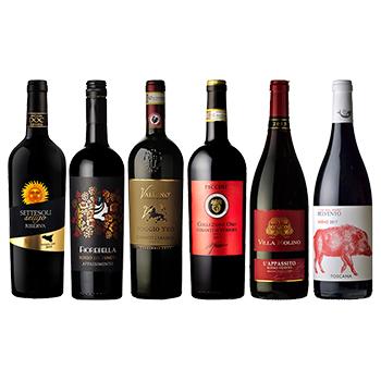 AEON de WINE厳選!イタリア赤ワイン6本セット / オリジナル(Italian red wine 6 bottle set) 4500ml
