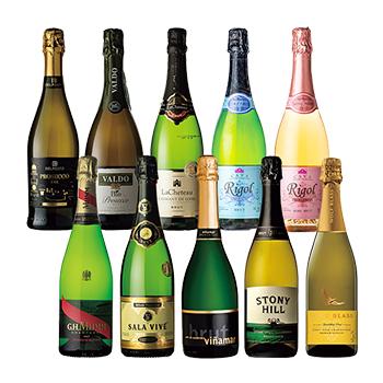 【M4006】有名シャンパン入り辛口スパークリングワインセット10本 / オリジナル(Champagne 10 bottle set) その他 7500ml