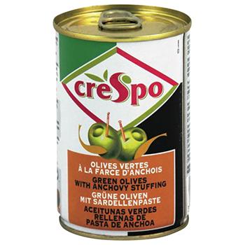 【FOOD de WINE】クレスポ スタッフドオリーブ アンチョビ 120g / ウィングエース(CRESPO GREEN OLIVES WITH ANCHOVY STUFFING) 0ml