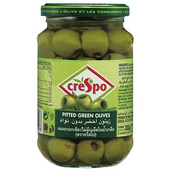 【FOOD de WINE】クレスポ グリーンオリーブ種抜 160g / ウィングエース(CRESPO PITTED GREEN OLIVE) 0ml
