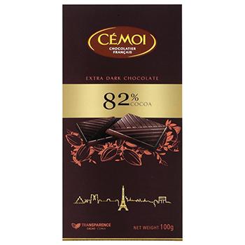 【FOOD de WINE】セモア 82%カカオ ダークチョコ 100g / ウイングエース(CEMOI) 0ml