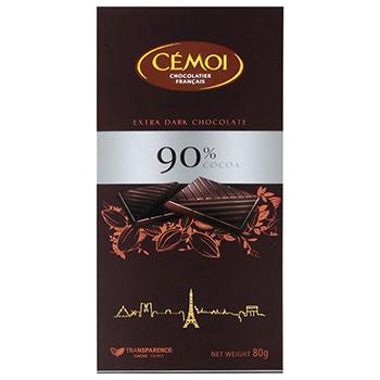 【FOOD de WINE】セモア 90%カカオ ダークチョコ 80g / ウイングエース(CEMOI) 0ml