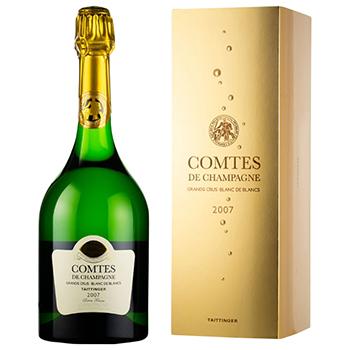 シャンパン スパークリング ワイン 【箱付】2007 テタンジェ・コント・ド・シャンパーニュ・ブラン・ド・ブラン / テタンジェ(Taittinger Comtes de Champagne Blanc de Blancs 2007 ◎) フランス 白泡