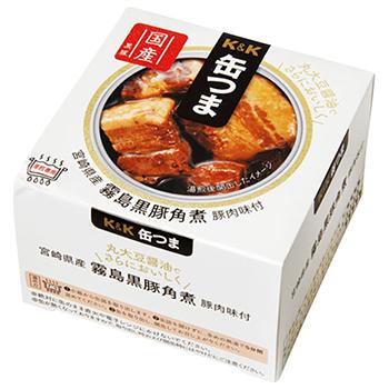 【FOOD de WINE】缶つま 宮崎県産 霧島黒豚角煮 150g / 国分(KANN TSUMA BRAISED BLACK PORK) 0ml
