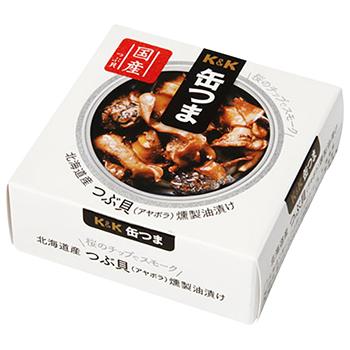 【FOOD de WINE】缶つま 北海道産 つぶ貝燻製油漬け 35g / 国分(KANN TSUMA TSUBU GAI) 0ml