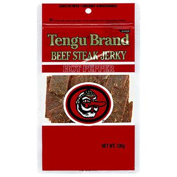 セール 【FOOD de WINE】テング ビーフステーキジャーキー ホット 100g / 鈴商(Tengu Brand Beef Steak Jerky) 0ml