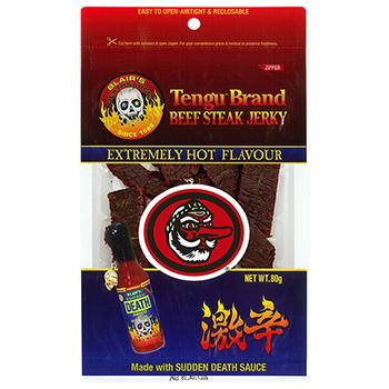 セール 【FOOD de WINE】テング ビーフステーキジャーキー 激辛 80g / 鈴商(Tengu Brand Beef Steak Jerky) 0ml