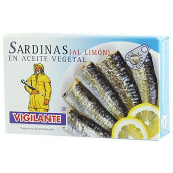 【FOOD de WINE】ヒビランテ オイルサーディンL(レモン) 120g / nakato(VIGILANTE Oil Sardines) 0ml