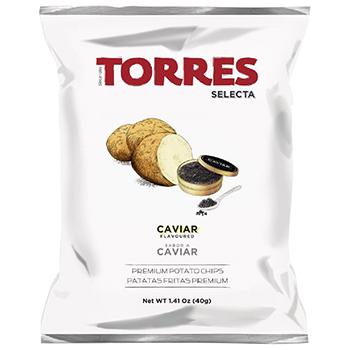 【FOOD de WINE】トーレス キャビア風味ポテトチップス 40g / アルカン(TORRES) 40ml