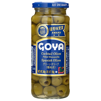 【FOOD de WINE】GOYA グリーンオリーブ 種なし 340g / イマイ(GOYA PITTED MANZANILLA OLIVE) 0ml