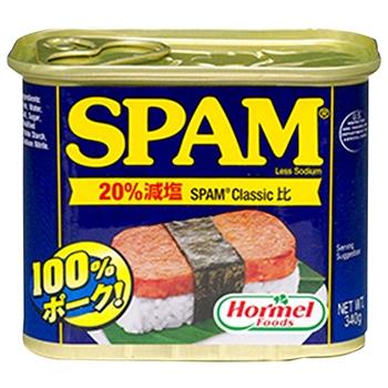 【FOOD de WINE】ホーメル スパム20%レスソルト 340g / 日本珈琲貿易(Hormel SPAM 20% Less Salt) 0ml